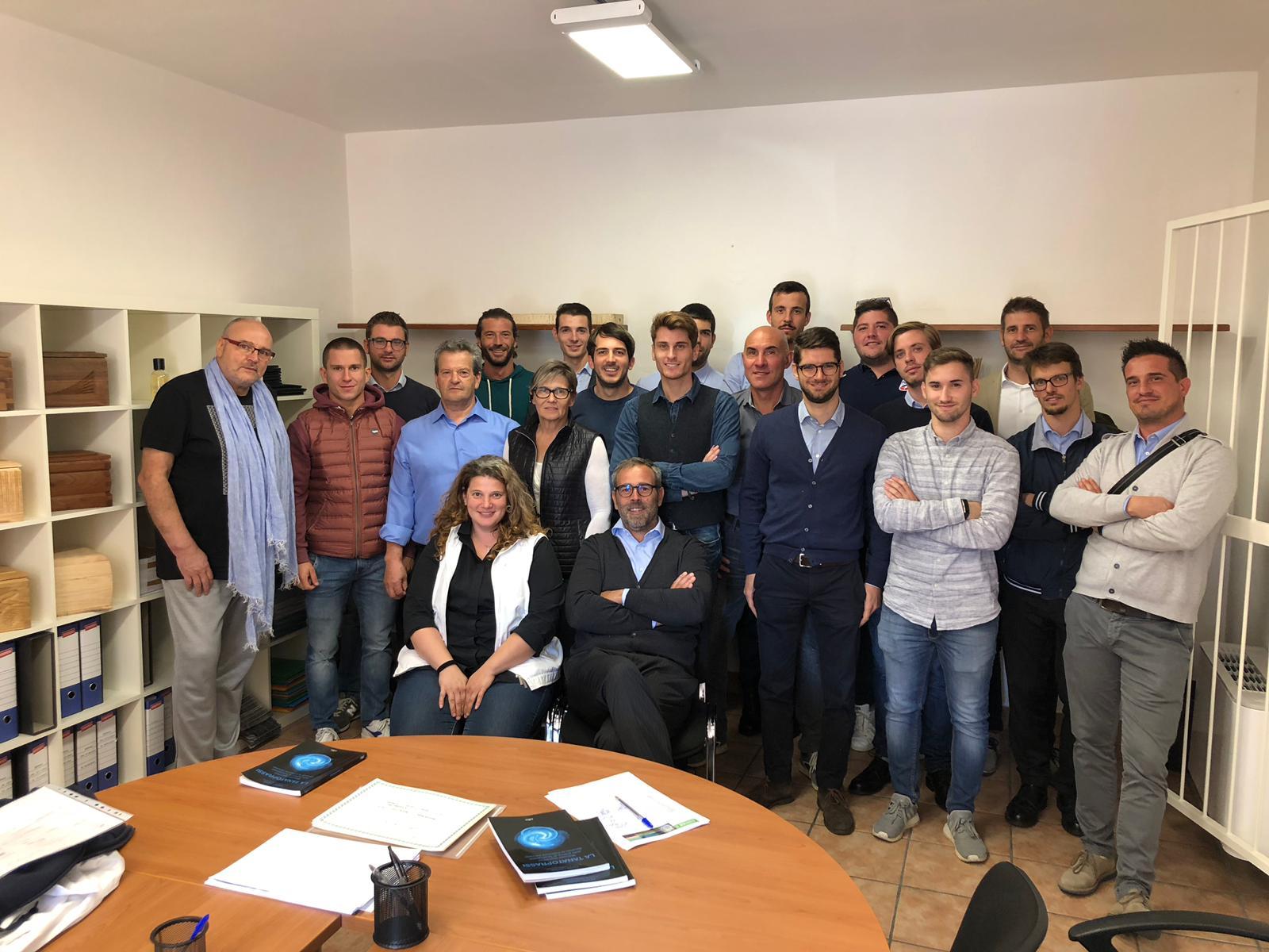 corso di Tanatoestetica Federcofit: i corsisti di Treviso