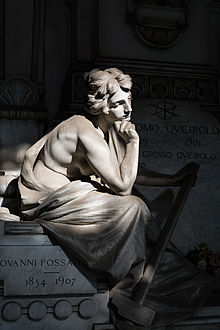 Tomba di Giovanni Fossati, realizzata da Vittorio Lavezzari