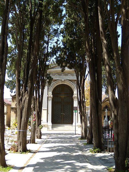 Il cimitero dei Cappuccini di Palermo si trova presso l'omonimo convento e le celebri catacombe, accanto alla chiesa di Santa Maria della Pace, in piazza Cappuccini.
